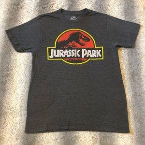 Jurassic Park Classic Logo Tee Men's Small Grey